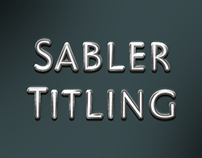 The elegant Sabler Titling. Make the right statement.