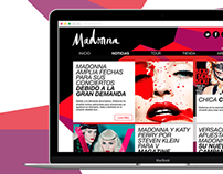 Website Redesign Madonna