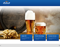 Labatt mock up's for custom web design