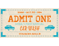 MERA Car wash ticket design