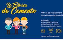 """Invitación """"La Fábrica de Cemento"""", Holcim Argentina."""