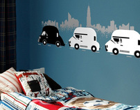 Wall Decals (Flying Mouse 365 x Arty Walrus)