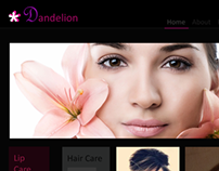 Dandelion - Beauty Products Web Design inspiration
