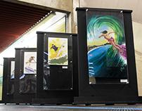 Exhibition Surf Art - Metrô de São Paulo (subway)