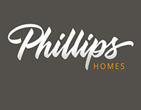 Hand Lettering for home builder logo.