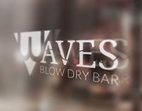 Waves Blow Dry Bar Logo