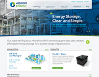 Aquion Energy Website and Branding