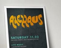 Alehaus Fundraiser Logo & Poster