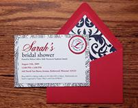 Sarah Lutz's Bridal Shower Invitations