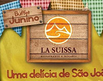 Flyer Buffet Junino / La Suissa