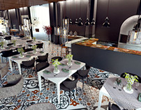 Hotel Restaurant - winter terrace