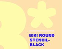 ✣ USOTA Font ✣ Biki Round Stencil - Black