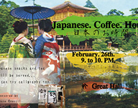 poster for Japanese coffee hour