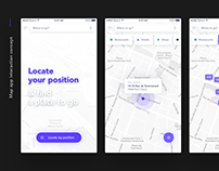 User interface - Map app Interaction concept