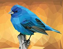 Blue Bird Low Poly