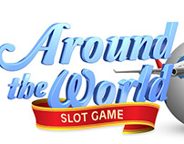 Slot Game Logo - Around the World