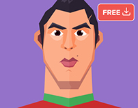 Messi & Cristiano flat Characters