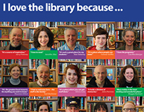 I Love the Library Banner