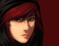 Red hair.