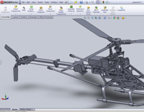 3D-Modeling of RC helicopter WALKERA 4F 200 (Dec. 2011)