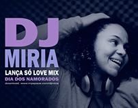 Cover DJ Miria - Fotografia e Design Gráfico