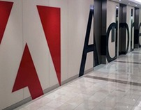 Adobe Workplace NYC  -Elevator Lobby Branding