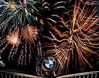 bmw happy new years poster on behance