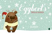 Eggbert's Eggnog branding