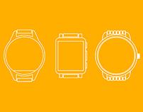 Free smart-watch vector set [Download]
