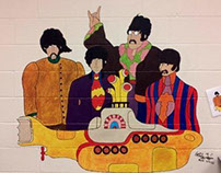 """Yellow Submarine"" Beatles Mural Commission"