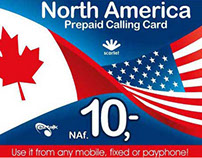 North America Calling Card Design