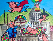 """When Pigs Fly"" for AFAS Art Tower"