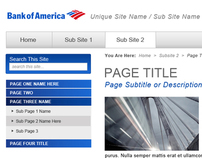 Bank of America Intranet - SharePoint Themes