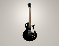 Les Paul Guitar 3D
