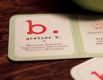 Atelier b. . Branding et matériel promotionnel
