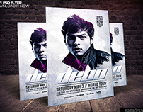 Electro House Dj Flyer PSD