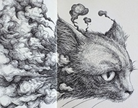 Cat - Moleskine Sketch