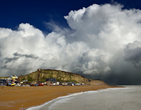 Stormy Hastings, England