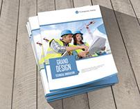 Modern Construction Bifold Brochure Template