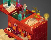 Magical isometric cupboard