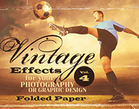 Vintage Effects for Photo, Designs 4 - Folded Paper