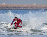 Freestyle surfers at Praia da Barra, 08 December 2013
