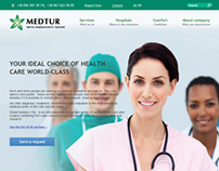 Website for MEDTUR (Medical Tourism Company)