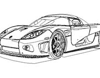 Modélisation d'une voiture sur Illustrator