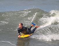 Freestyle surfers at Praia da Barra, 11 January 2014