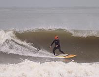 Freestyle surfers at Praia da Barra, 24 January 2014