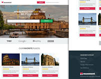 Landing Page for Musement