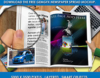 GemGfx Newspaper Spread Mockup (Free Download)