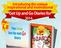 "Flyers for ""Get Up And Go Diary"""