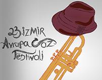 23. İzmir Avrupa Caz Festivali Afiş Tasarımı